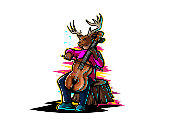 Deer-with-cello-3