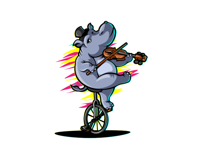 Hippo-with-cycle-violin-3