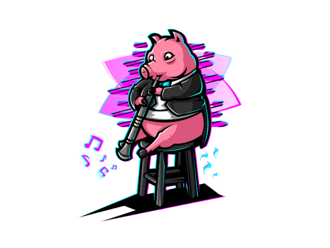 Pig-with-Clarinet-3