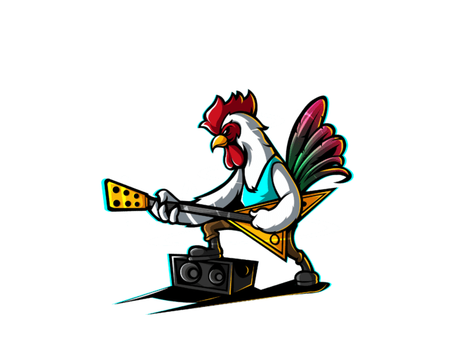 Rooster-with-bass-guitar-3
